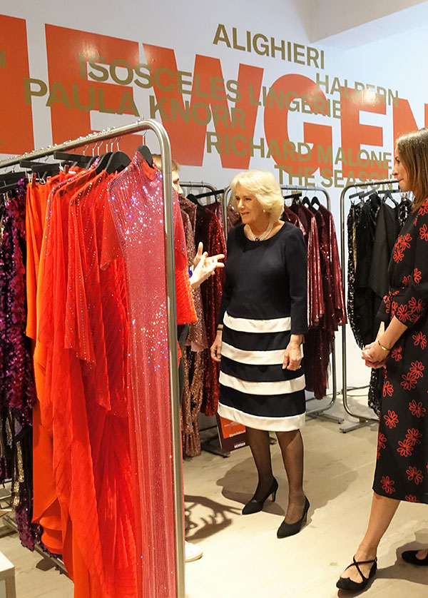 CAMILLA, PRINCE CHARLES' WIFE, VISITED THE LONDON FASHION WEEK