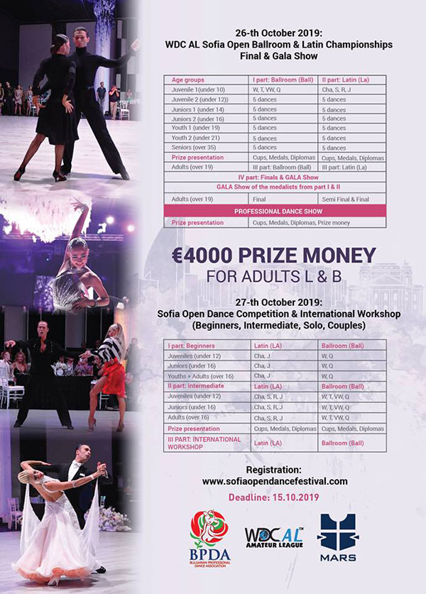 WORLD CHAMPIONS & STAR JURY ARRIVE FOR SOFIA OPEN DANCE FESTIVAL