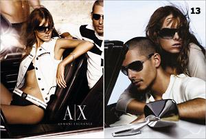 """Реклама на """"Armani Exchange"""""""
