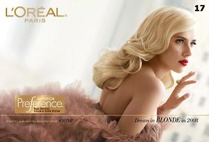"Скарлет Йохансън в реклама на ""Loreal"""