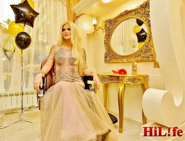 VERONIKA STEFANOVA OPENS A BEAUTY BAR WHILE DRESSED BY FASHION HOUSE BLINK
